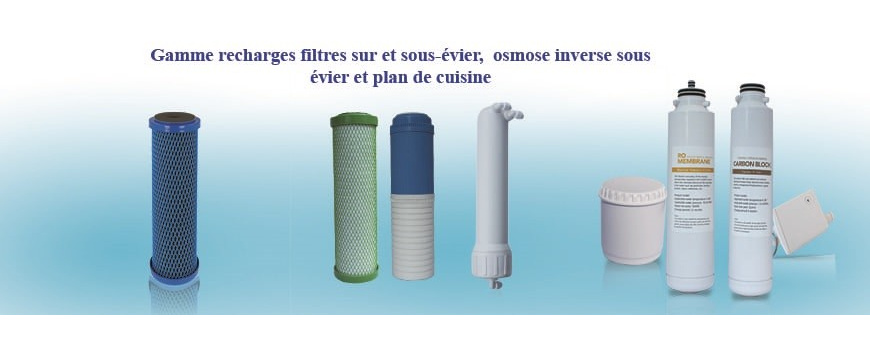 Recharges pour filtre eau du robinet et osmoseur domestique